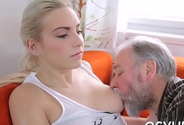 Horny young high-priced screwed by old guy