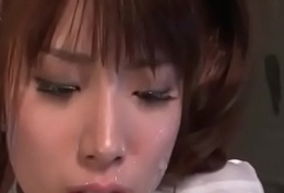 Hinata Tachibana with cum on will not hear of face is toyed till she cums
