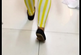 Transparent see flip leggings 92