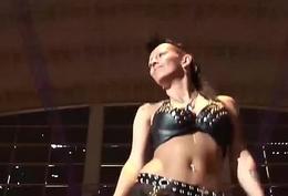 extreme magnify fetish on public stage