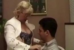 Granny Cram Flirts With Her Partisan