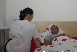 Shagging burnish apply horny German nurse