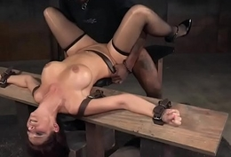 Shove around redhead sub pounded at the end of one's tether black maledom