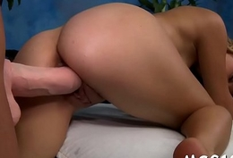 Lusty girl gets huge facial