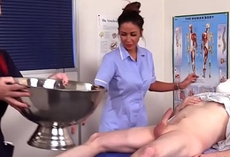 Cfnm nurses suck patient