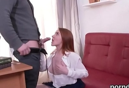 Nice schoolgirl was seduced and fucked by her doyenne mentor