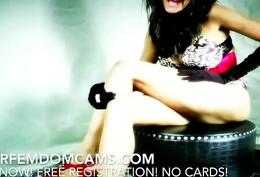 Femdom S&m Beautiful Sadistic And Dirty Mistress Humiliates Milquetoast Slave On Cam
