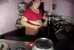 Indian old Randi  with chubby tits