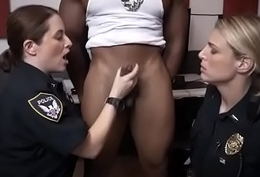 Two Pallid Womanlike Cops Getting Dicked By Duo Baleful Suss out