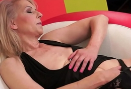 Queasy granny pussyfucked in many poses
