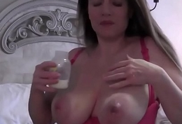 Chubby soul eloquent preggy milf lactating boobs milking soul