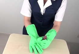 Tugjob with latex gloves