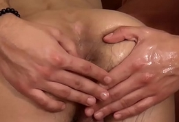 Fingerfucked twink spills his warm jizz