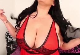 Huge Boobed Latina, Angelina Castro Strokes &amp_ Sucks A Cock!