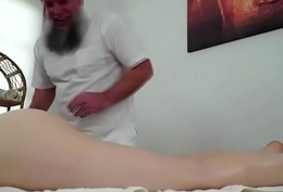 Czech Tera Link fingered away from old masseur with an increment of giving him a head