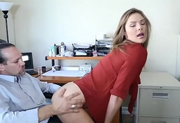 Shyla Ryder giving her Boss Mr Rich a oral pleasure