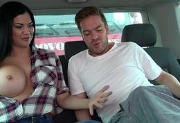 Ryan Ryder demonstrate young innocet sweet Jasmine Jae in all directions fuck in driving van