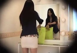HiddenCam Found object inside the skirt of a slender japanese girl