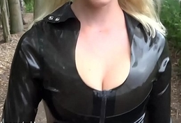 My Dirty Luggage - public latex fan lose one's heart to