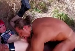 Outdoor blow job be incumbent on impertinent unskilful fuckers Vol. 8