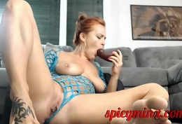 Redhead Milf Sucks on their way Feet
