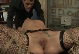 Smalltits babe dominated relative to the office