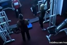 Hidden camera films old beggar fucking young latina concerning gym
