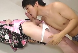 Masturbating oriental tranny anally screwed