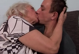 Alluring gilf screwed away from say no to young lover