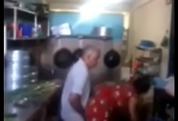 Srilankan chacha fucking his maid down kitchen quickly