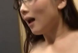 Scalding Japanese AV Sculpture relative to glasses seduces juvenile guy