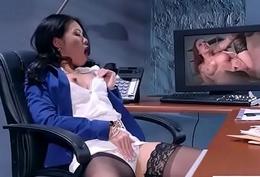 Hardcore Intercorse Alongside Office With Big Round Jugs Girl (Cindy Starfall) mov-10