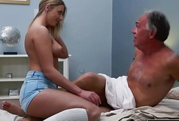 Blonde Teen Fucked By Prudish Aged Man that babe likes property sex blowjobs and cum