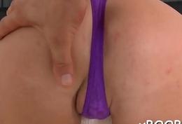 Rough sex makes busty chick cum