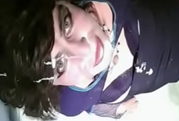 Kornelia slutty CD fuck - suck sex toy &amp_ cum facial