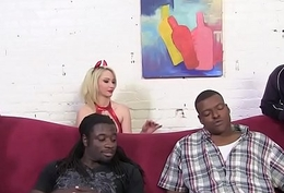 Vampire Sara Monroe Gets Gangbanged by Big Black Jocks