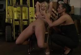 Dominatrix mistresses disciplining sub babes