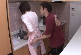 Maid getting fucked away from the house employer
