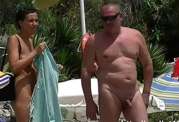 Saw this girl not susceptible nude  shore in Spain