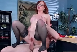 (Dani Jensen) Big Chest Sluty Office Unshaded Love Hard Sex clip-12