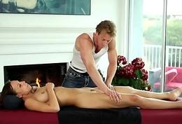 Massaged pamper realize spunk fountain