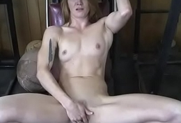 Defoliated Fit Redhead Cums Foreigner Finger Having it away Herself
