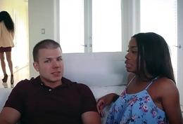 Hot ebony mother Yasmine bangs with Myas boyfriend