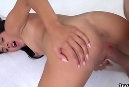 Kissable cutie gives a head in pov and gets serious vagina pounded