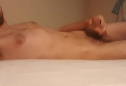 Young guy carrying out some morning horny  hard big flannel masturbating